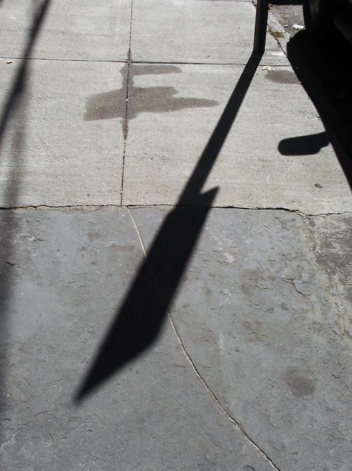 sidewalk shadows
