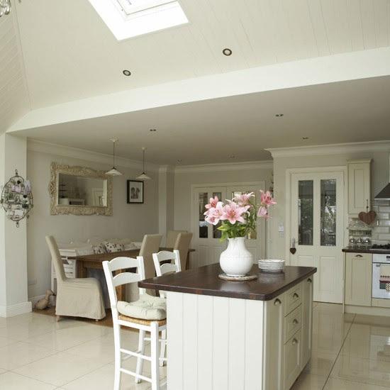 Open-plan neutral kitchen | Kitchen-diners | housetohome.