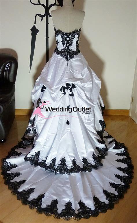 Scarlett Black and White Wedding Dresses
