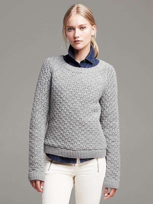 Banana Republic Star-Stitch Crew Pullover