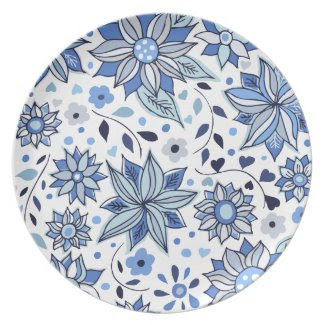 Whimsical Winter Flowers Plate plate