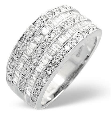 Platinum Wide Ring 1 Carat Diamond H/Si   Item N3559S