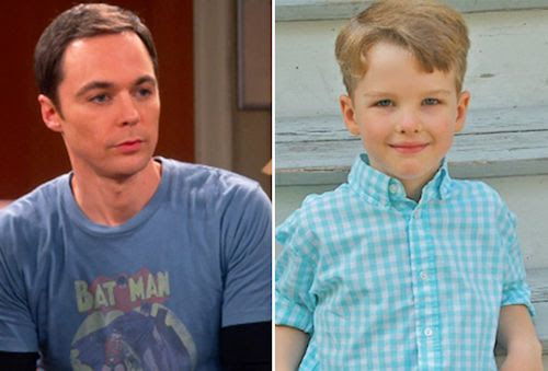 Young Sheldon - Jim Parsons and Iain Armitage