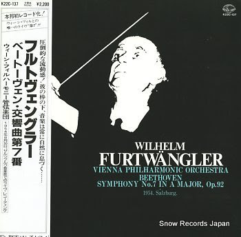FURTWANGLER, WILHELM beethoven; symphony no.7 in a major, op.92