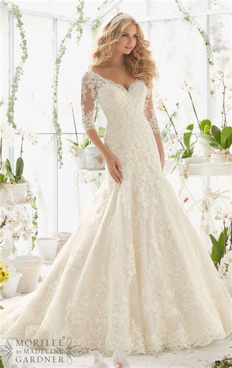 J147 Long Sleeve Wedding Dresses, Plus Size Wedding