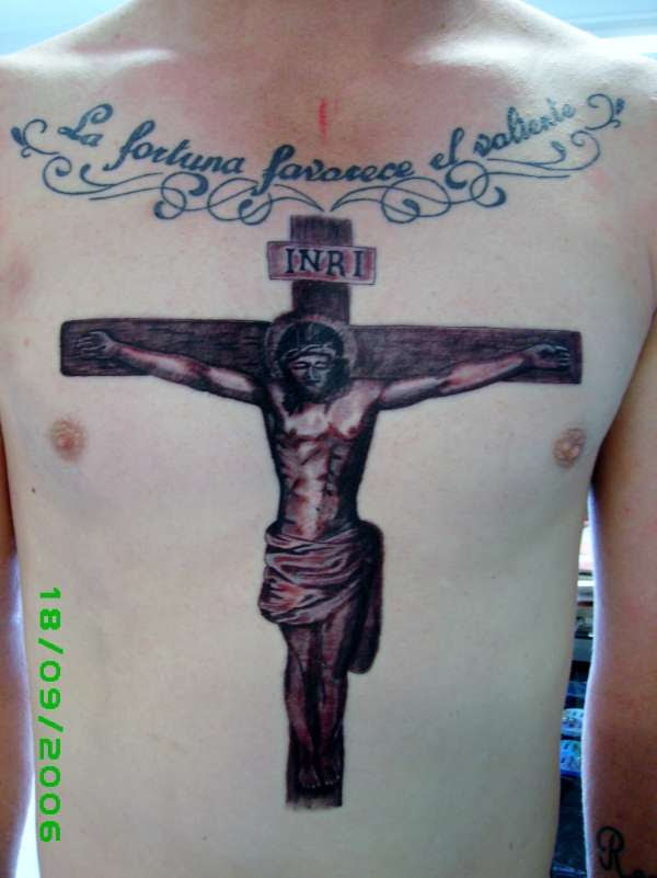 Religious Jesus On Cross Tattoo