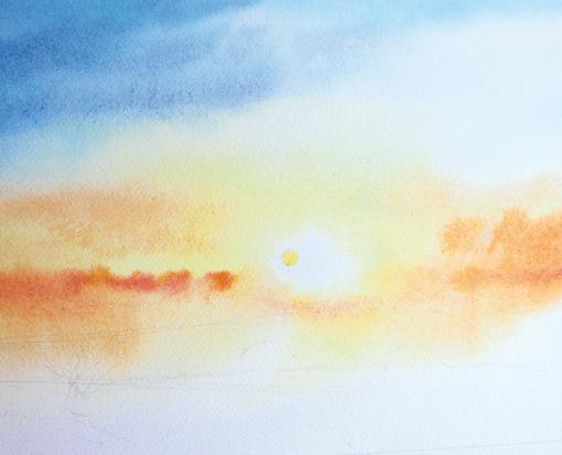 Keindahan Sunset Dan Sunrise Di Atas Kertas Kopi Keliling