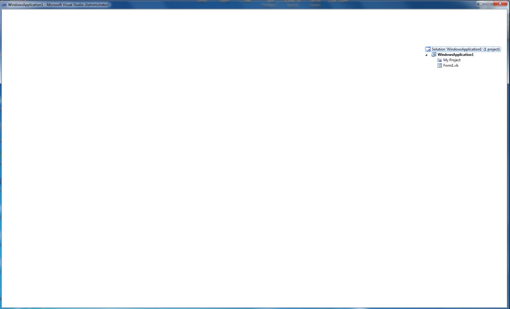 VS2010 Blank screen