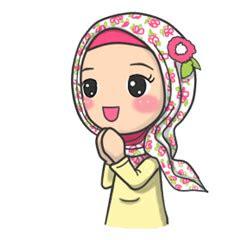 flower hijab stiker kreator