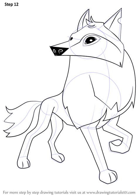 learn   draw arctic wolf  animal jam animal jam
