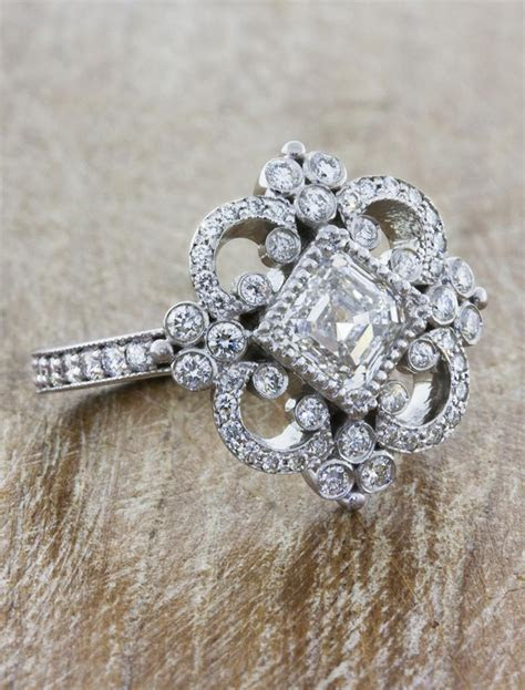 Florence: Vintage Inspired Asscher Cut Diamond Engagement