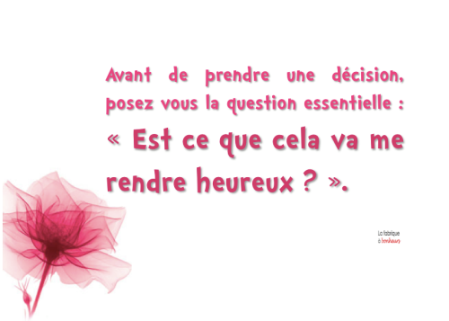 La question essentielle …