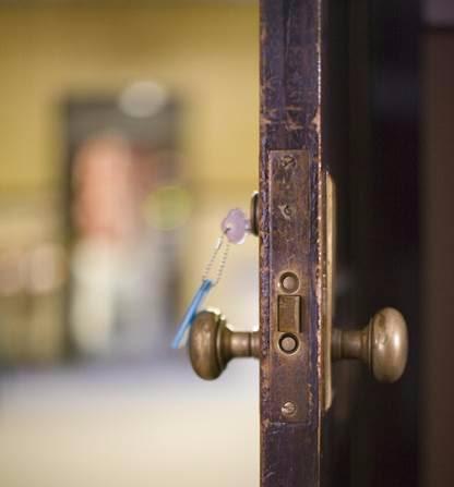 Open door with key