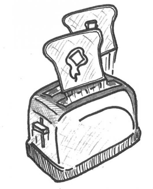 Dibujo De Tostadora De Pan Para Pintar Y Colorear Colorear Dibujos