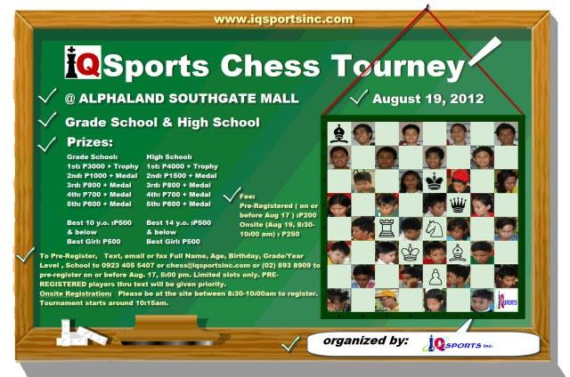 Iqsports Chess Tourney aug 19