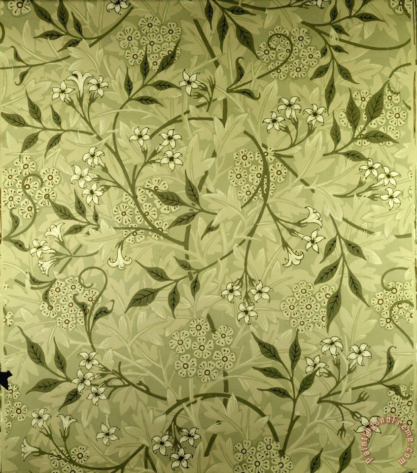 William Morris Jasmine Wallpaper Design Art Print for sale  paintingandframe.com