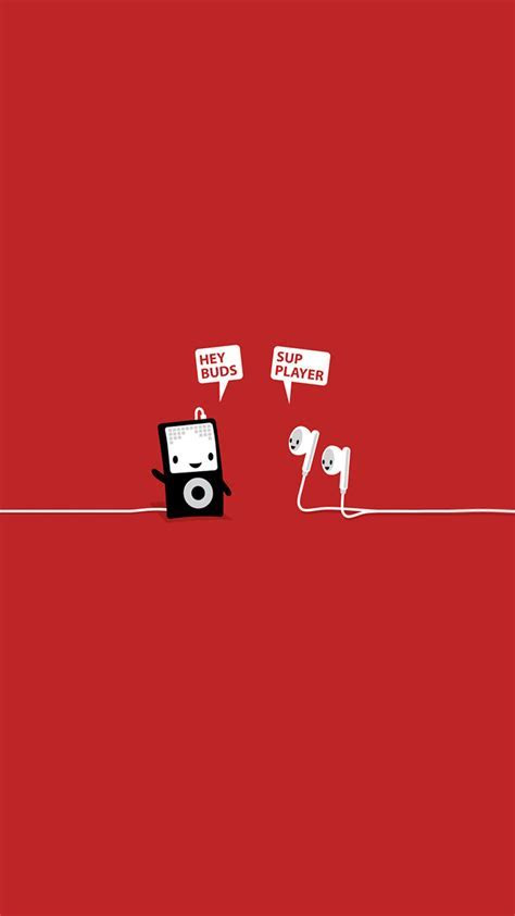 Funny Music Headphones Player Buds iPhone 6  HD Wallpaper