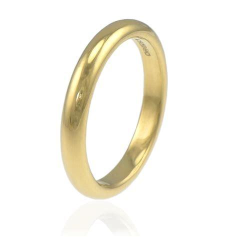 4mm Half Round Wedding Ring in 18ct Gold or Platinum