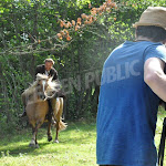 Villaines-les-Prévôtes : tournage d'un western au poney-club du Moulin