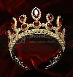Tsarina of Russia Ruby and Diamond Marquis cut tiara