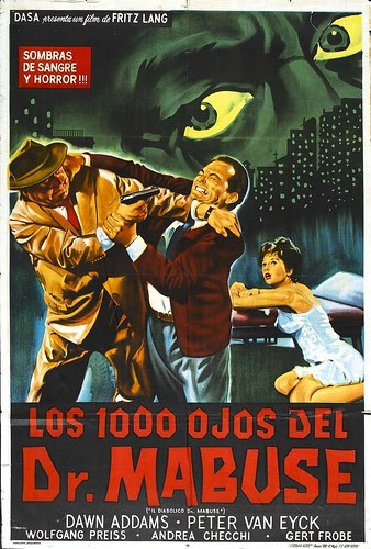 POSTER - 1000 EYES OF DR.MABUSE (2)