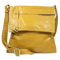 Stitched Flap Cross-body Handbag (Black): Shoes
