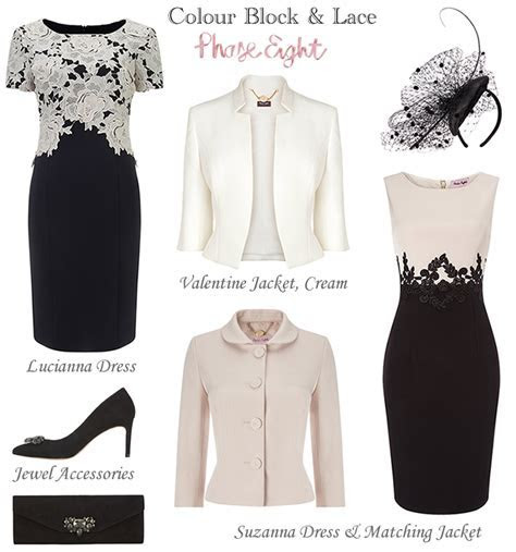Phase Eight Black Cream Winter Mother of the Bride Outfits