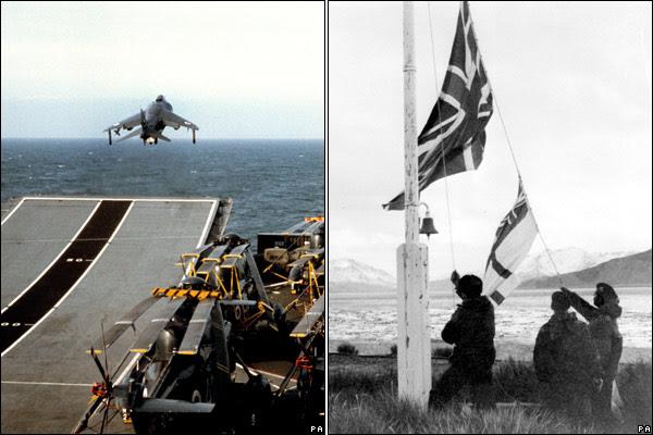 l'Angleterre met le paquet et l'Union Jack flotte de nouveau sur les Falklands