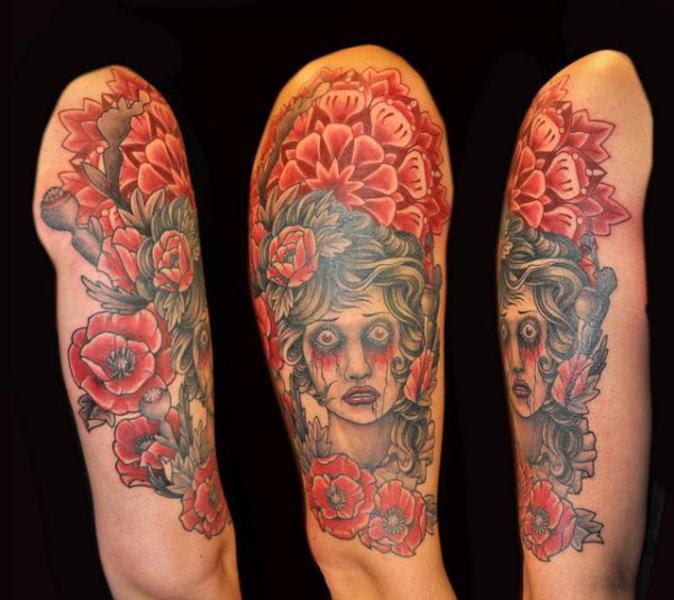 Rose Blood Half Sleeve Tattoo Designs Tattoo Love