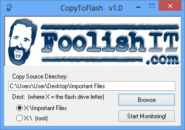 برنامج مجانى لتسريع عملية النسخ الى الفلاش ميمورى CopyToFlash