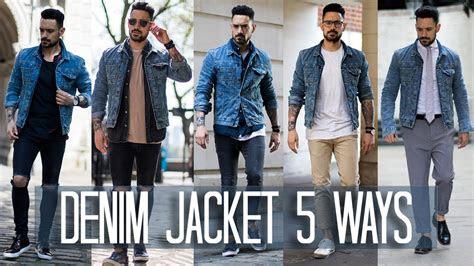 wear  denim jacket  ways mens style fashion