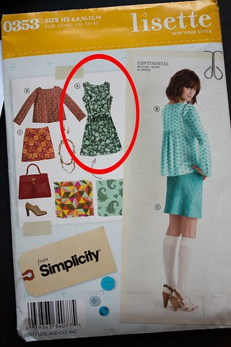 Simplicity 0353 - LIsette Continental dress