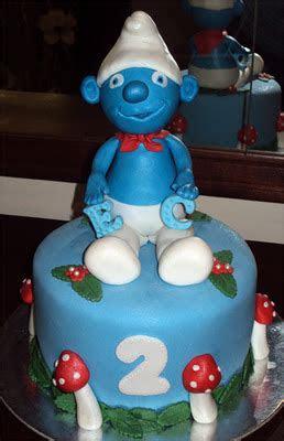 Delana's Cakes: Smurfs mini cake