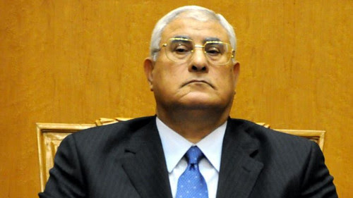 Adly Mansour, the chief justice of the Egyptian Constitutional Court was sworn in as interim president by the military. The country has faced a political crisis for months. by Pan-African News Wire File Photos