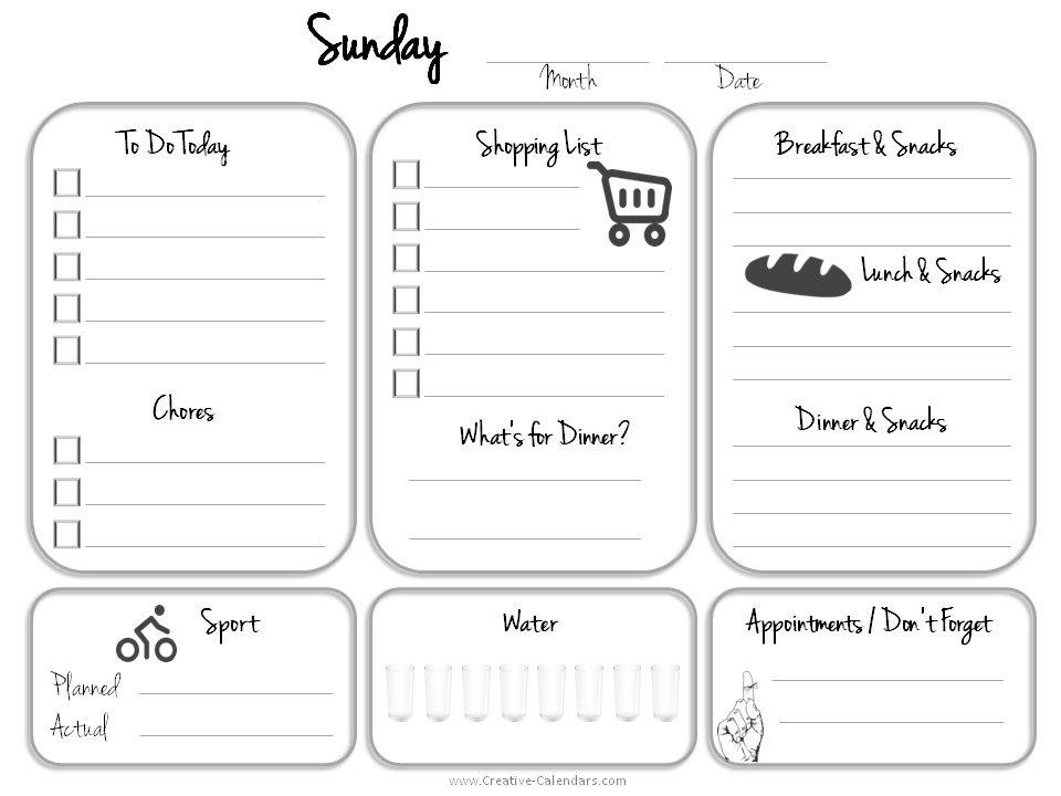 Daily To Do List Calendar