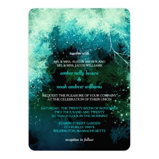Winter Glitters Mystic Forest Wedding Invitations