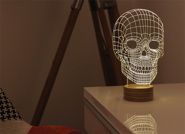 Bulbing-Skull-Lamp