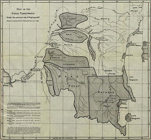 Map of the Congo Territories—Under the personal rule of King Leopold II