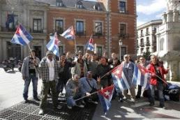 Cubanos protestan en España