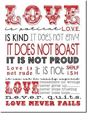 1 Corinthians 13 printable