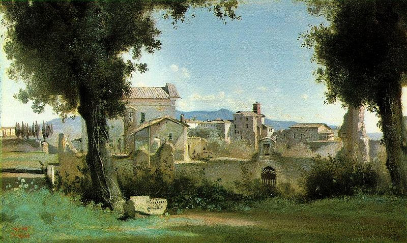File:View from the Farnese Gardens, Rome (Camille Corot).jpg