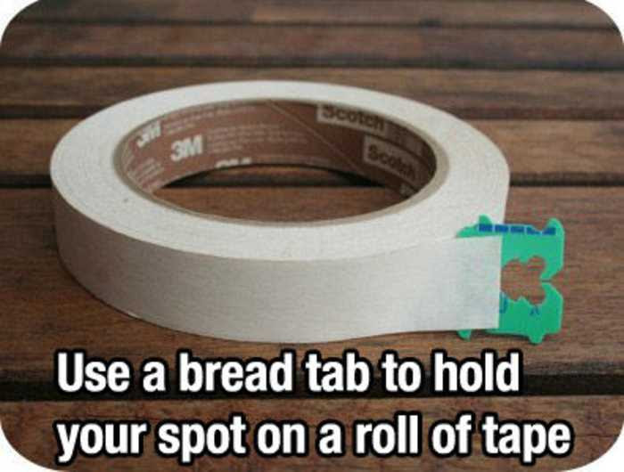 use a bread tab to hold your spot on a roll
