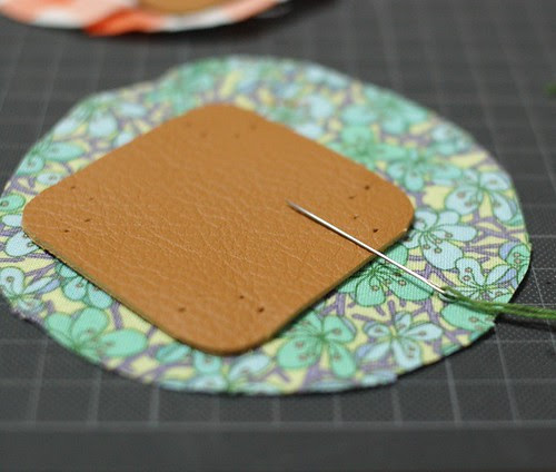 How to make a leather bottom pincushion 5