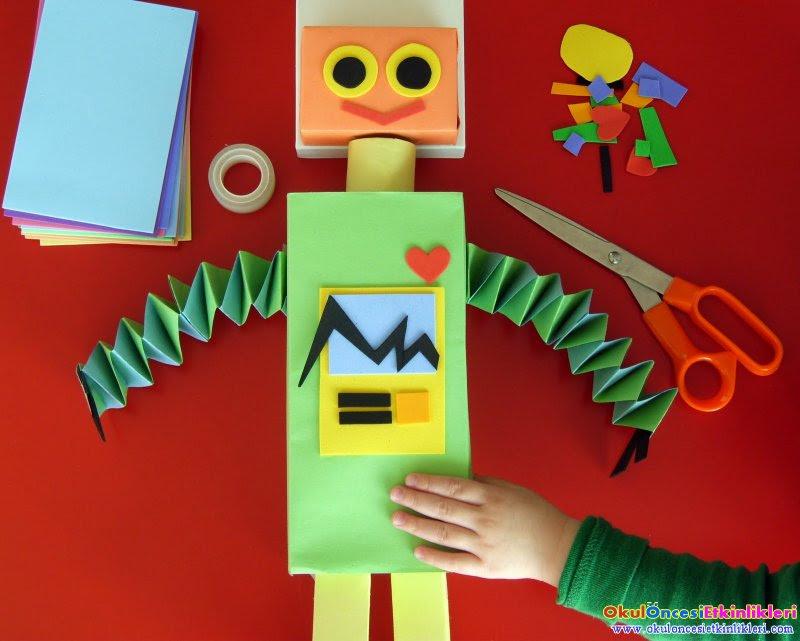 Okul öncesi Robot Yapımı örnekleri Okul öncesi Etkinlikleri