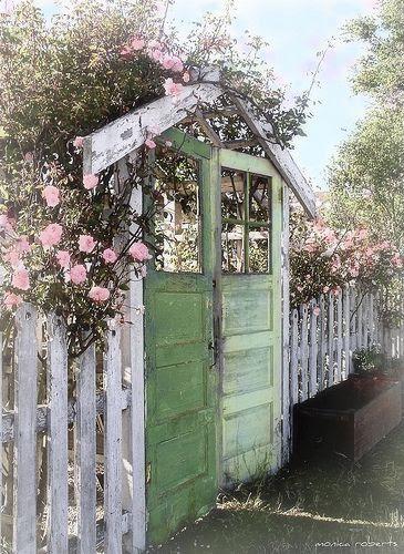 Garden Door Gate...cute!