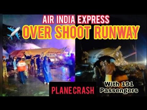 IMPRESSIONANTE: Avião parte ao meio ao pousar na Índia com 191 pessoas; há mortos, veja