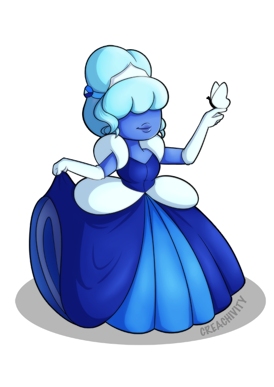 Sapphire from Steven Universe as Princess Cinderella! Commissioned by @javidluffy​ Please help me pay my tuition by commissioning! My Art | Commissions | Ko-fi
