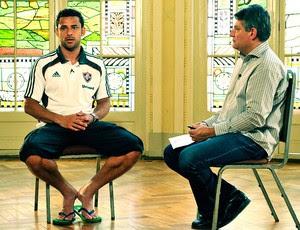 Entrevista Cléber Machado com Fred Esporte Espetacular (Foto: João Cotta / TV Globo)