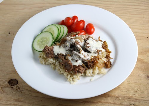 Lamb Shawarma with Sauce