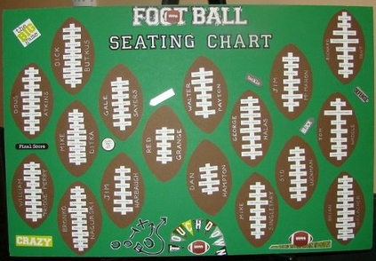 create a football themed seating chart for your wedding #PreppyPlanner
